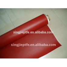 Tissu en fibre de verre revêtu de caoutchouc et de silicone avec plusieurs couleurs / 0,25mm