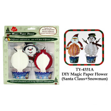 Brinquedo mágico engraçado da flor do papel de DIY