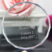 China Fabricação de Paperweight de Cristal Adorável para Lembrança de Férias