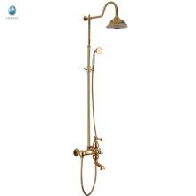 Baño de latón KW-05J baño de ducha con aspersor, mezclador de ducha de lluvia colgante de pared con ducha de mano, baño ducha