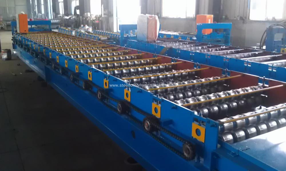 Building Iron Roof Corrugated Roll Forming Machine