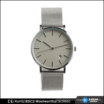 Reloj de cuarzo clásico reloj de pulsera de acero inoxidable
