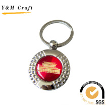 Round Diamonds Metal Key Ring with Epoxy Sticker (Y02383)