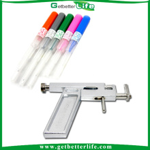 Complete Piercing Kit with Piercing Gun/Ear Studs/Tube Needles