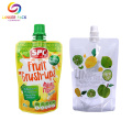 Custom BPA Free Transparent Clear Pouch With Spout