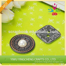 metal buton home decoration metal sticker new product shabby chic