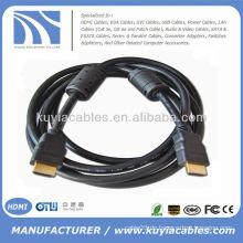 Nagelneu 19pin hdmi zu hdmi Kabel 1.3v mit 2 Ferrit 1.5meter schwarz