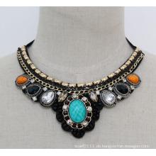 Mode neue Acryl Zirkon Modeschmuck Choker Halskette (JE0095)
