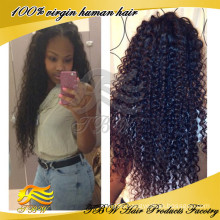 New Product On The Market! 100% Human Hair Curly Full Lace Wigs For Black Women