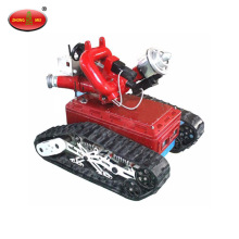 Battery Driven Remote Control Robotic Fire Fighting