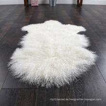 Echte gestrickte mongolischen Lammfell Großhandel Teppich