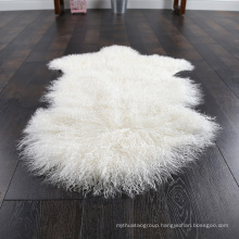 Genuine Knitted Mongolian Lamb Fur Wholesale Carpet