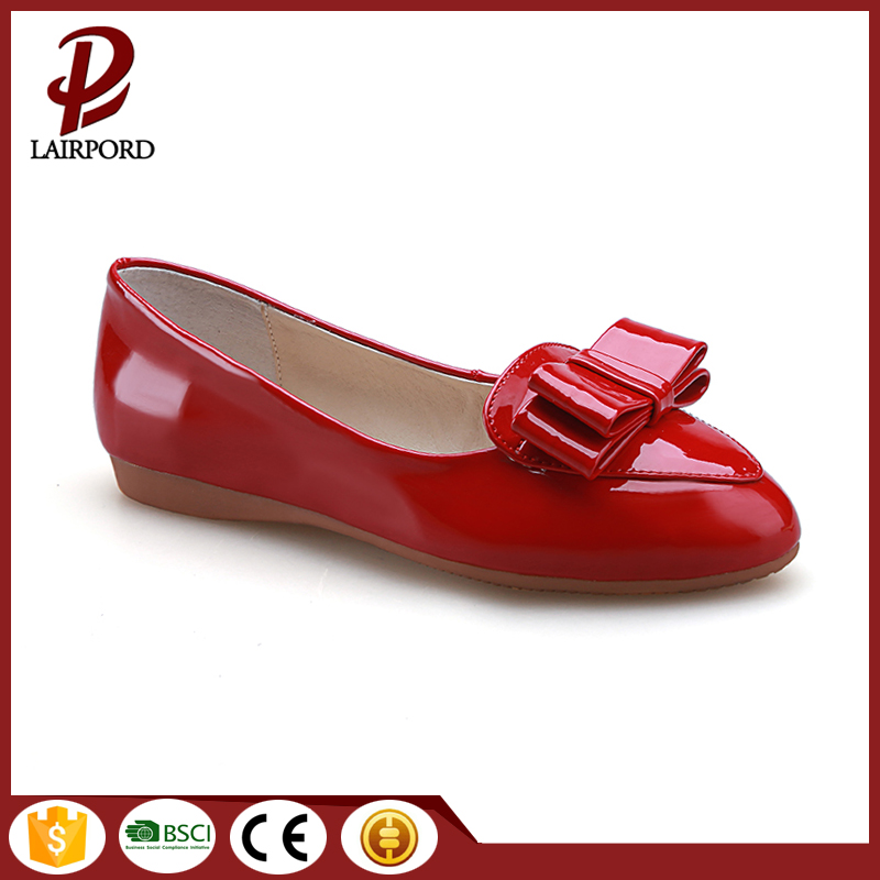 hot sale women flat PU shoes wholesale