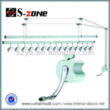 Elevación de ropa de techo ropa de secado ropa colgante secado rack bastidores de aluminio para balcones montado en la pared ropa secadora