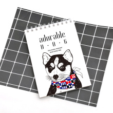 Adorable dog A5 vertical spiral coil notebook