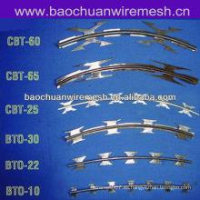 Hoja de acero inoxidable galvanizado Scraper tipo afeitado alambre de púas para uso de protección (proveedor)