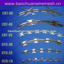 Galvanized stainless steel sheet Scraper type razor barbed wire for protection usage(supplier)