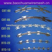 Оцинкованная листовая нержавеющая сталь Тип скребковой колючей проволоки для защиты (поставщик)