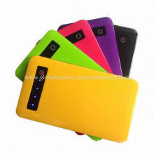 4,000mAh Ultra-thin Li-polymer Power Bank, Touchscreen Buttons, Smart LED Displays for iPhone