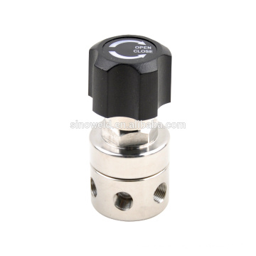 Stainess steel high purity low flow microminiature regulator