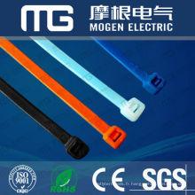 3,6 * 300mm autobloquant nylon66 câble en plastique zip cravates sangle avec UL94-V2, isolation de puits, approbation CE