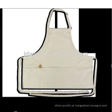 avental de ovo de algodão com bolsos grandes