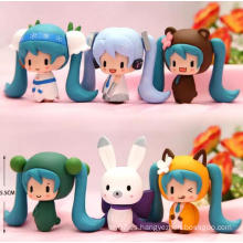 Traje de mascota ICTI Personalizada Anime Figura Juguetes de muñeca de plástico ornamentos