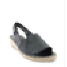 Frauen Keil Fersen Sandale Schuhe strappy espadrille Jute Sohle