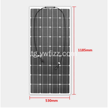 100W Monocrystalline Silicon Panels Semi-flexible Solar Panel