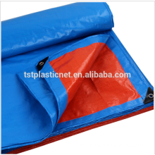 cheap plastic polyethylene rainproof camping tarpaulin sheet with reinforced eyelets supplier