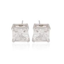 91672 xuping мода простые квадратные формы синтетические цирконовые женские серьги