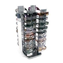 Exhibición de las gafas de sol del estante del metal de escritorio en la tienda, Merchandising 4-Way Peg Sunglass Rack Display