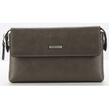 Grey Genuine Leather Hand Bag (213-24102)