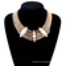 Neues Design chunky Gold Edelstahl-Statement Halskette