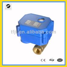 Válvula de bola eléctrica de 2 vías con encendido y apagado 24vac para fan coil y sistema de ciclo de agua caliente