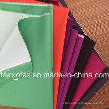 Tissu de vêtement 100% Poly Pongé avec enduit blanc