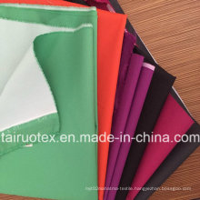 Garment Fabric of 100% Poly Pongee with White Coated