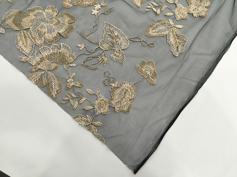 Korea Tulle Embroidery Fabric
