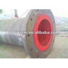 tubo de aço carbono revestido de borracha