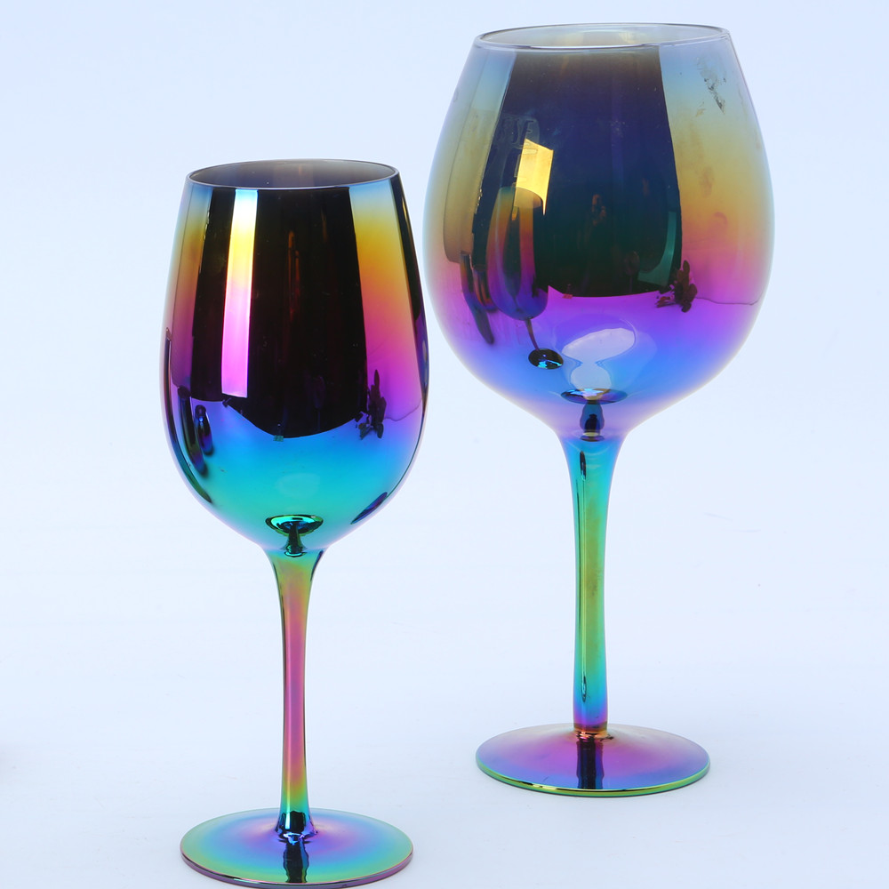 Wholesale Rainbow Goblet Wine Glass0
