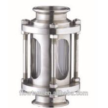 Sanitárias aço inoxidável braçadeira mira vidro