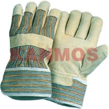 Los guantes industriales del trabajo de la seguridad industrial del cuero del grano del cerdo (22002)