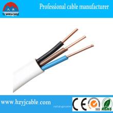 Электрический провод покрытия ПВХ оболочка медный проводник плоский кабель Sheth