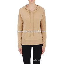 New Design Women Pure Cashmere Hoodie Sweater