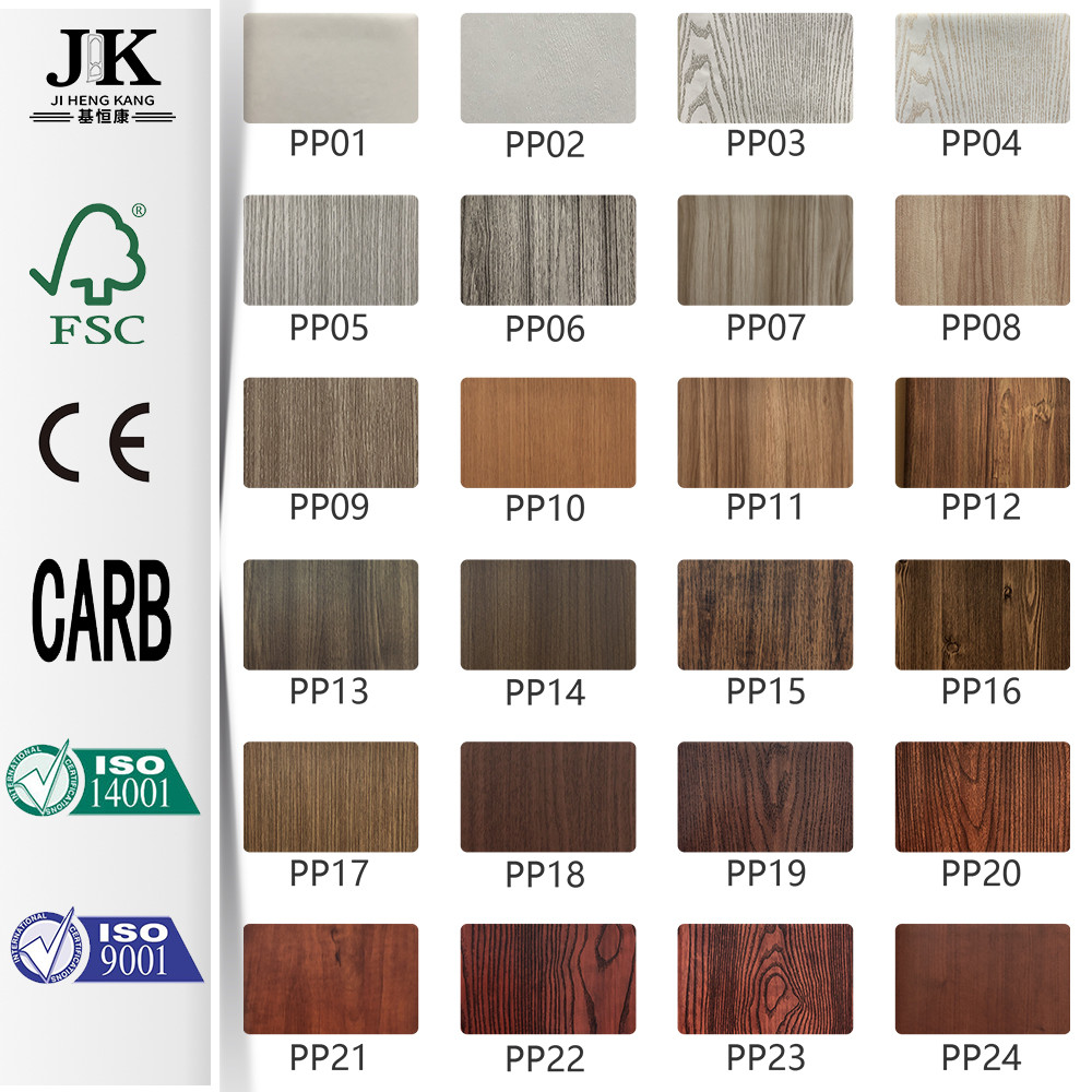 JHK-Interior PVC Wooden Plastic Laminate Door