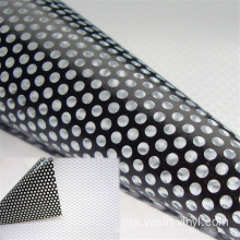 White Black Perforated One Way Vision Vinyl Film
