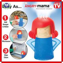 Creative Cute New Metro Angry Mama Limpiador de microondas Herramientas de limpieza de la cocina