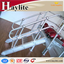 stainless steel elevator handrail with fittings