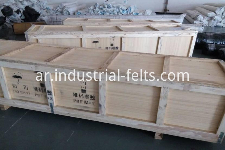 Wooden box of dewatering belt