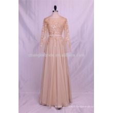 Wholesale Various Colours Chiffon Dress Bridesmaid Cocktail Party Evening Dress with Long Sleeves